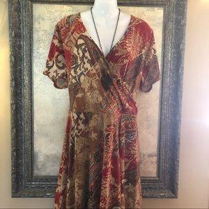 Ralph Lauren 2x Dress Fit & Flair Boho Chic